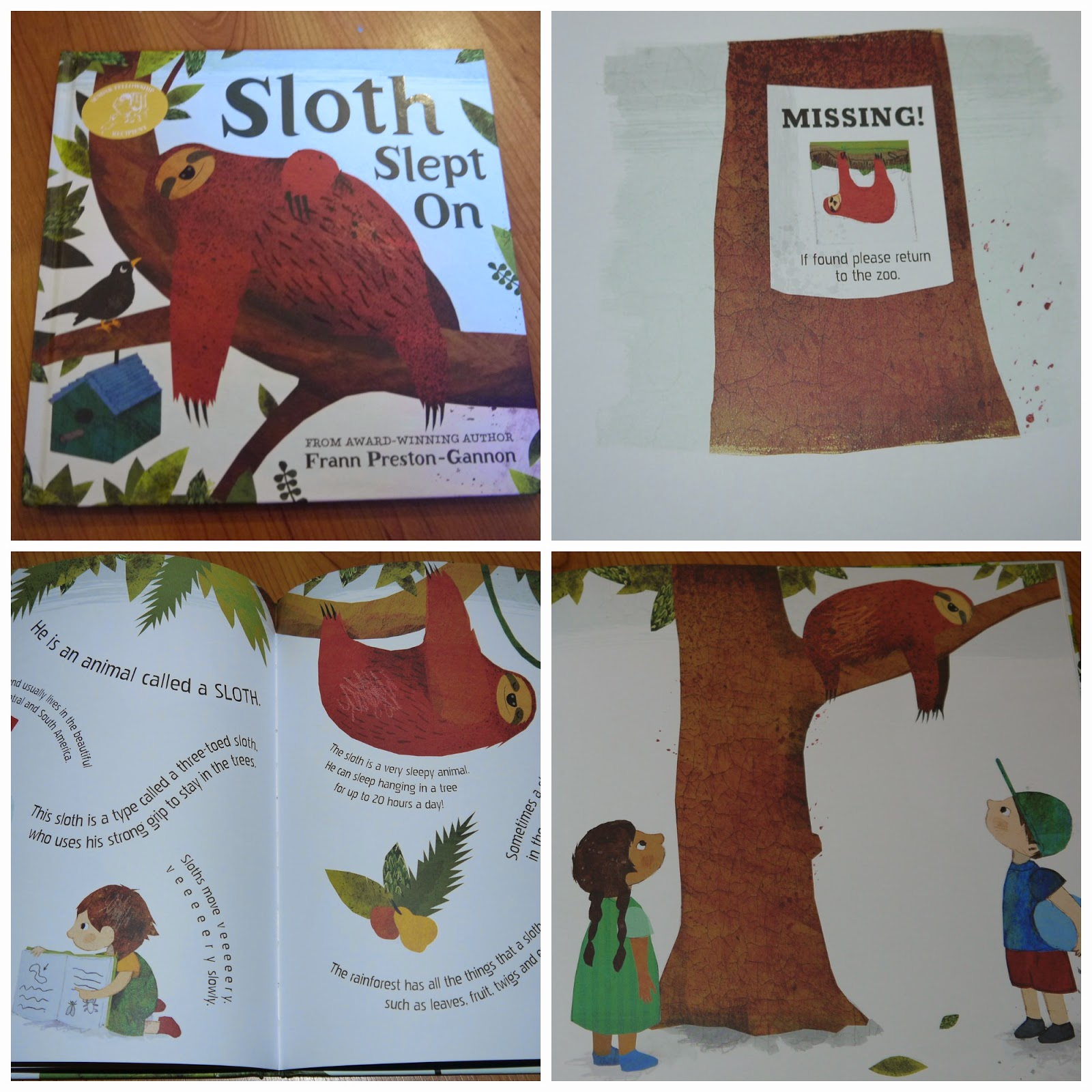picture book, sloths