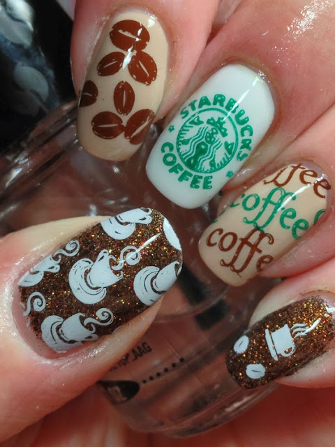 Coffee Nail Art and How to Do