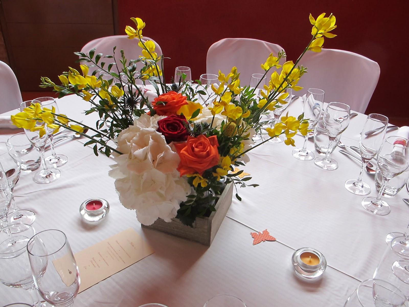 La fleureuse blog mariage bouquets de table - Bouquet table mariage ...