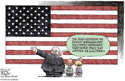 Super PAC political cartoon