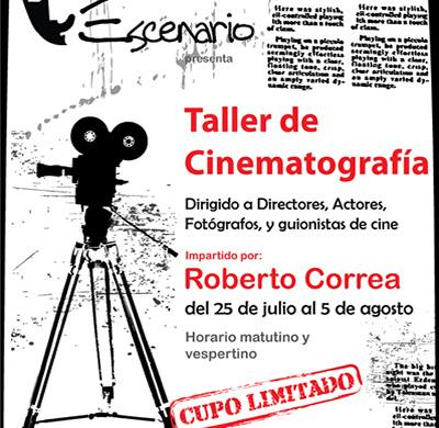 Taller de Cinematografía - Dirigido a Directores, Actores, Fotógrafos, y guionistas de cine