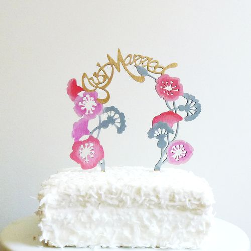 madelie trait cake topper