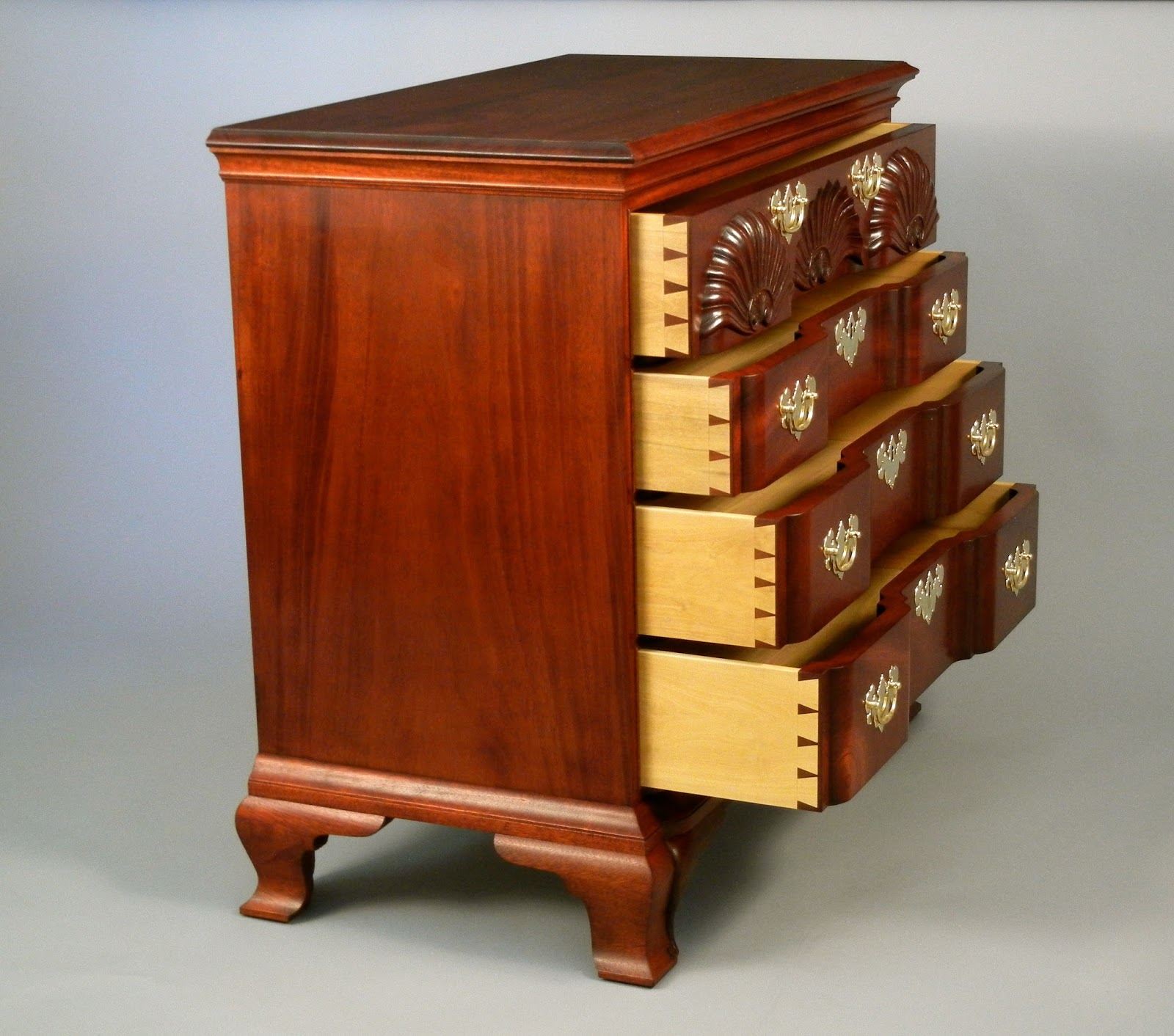 Reproduction Chippendale Chest of Drawers