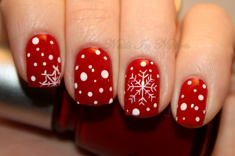 Nails in nippon 12 days of christmas nail challenge day 1 red nails 12 days of christmas nail challenge day 1 red nails prinsesfo Gallery