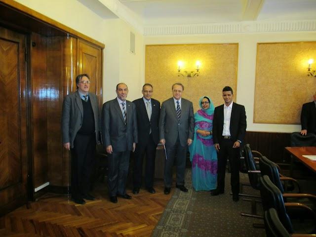 Viceministro de Relaciones Exteriores de la Federación de Rusia recibe a una delegación del F. Polisario