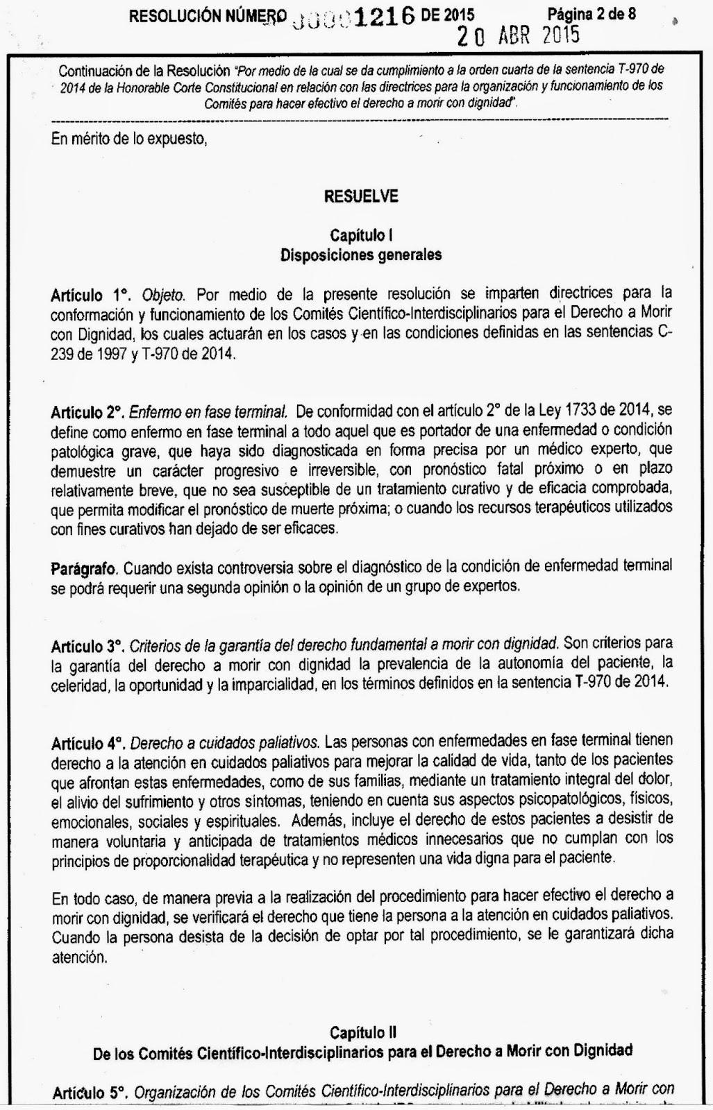Texto de la resoluci n 1216 del 20 abril 2015