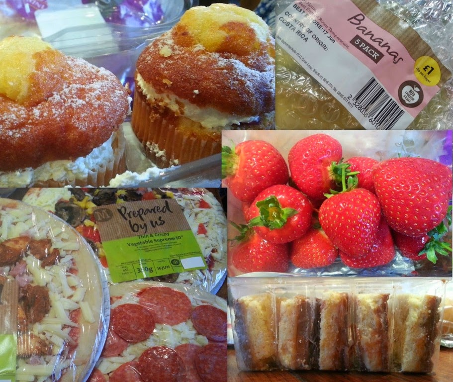Morrisons Home Delivery Review Fresh Produce fruit cake and pizza