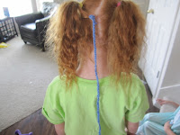 The day my daughter crocheted herself a rattail