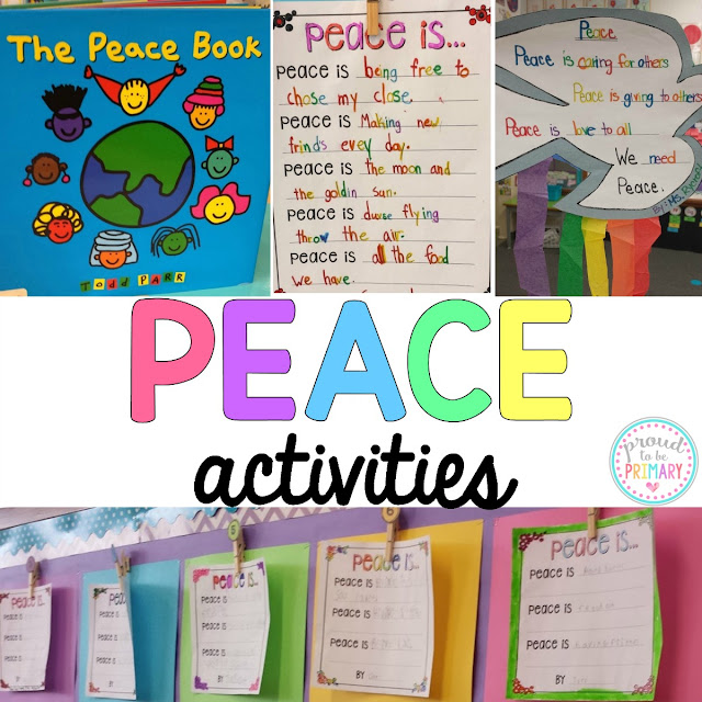 Peace activities and free peace is writing templates by Proud to be Primary