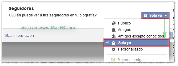 Privacidad: Lista de Seguidores - MasFB
