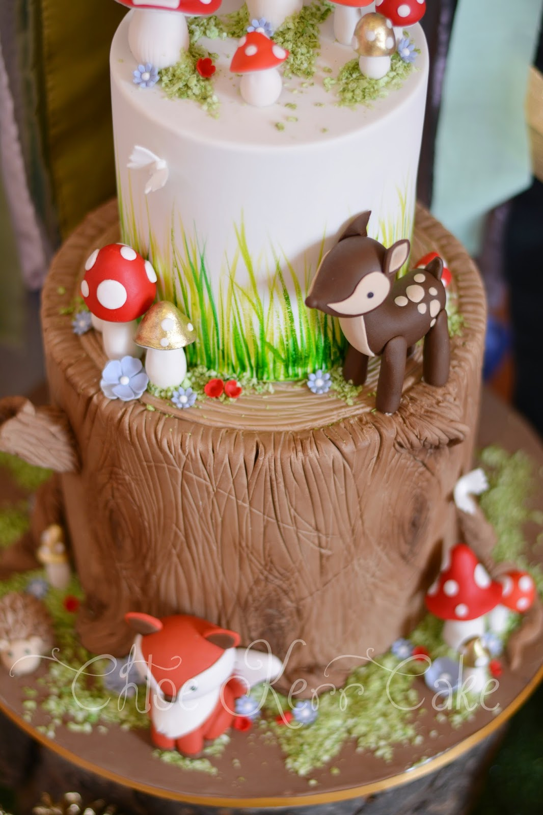 Chloe Kerr Cake: woodlands baby shower