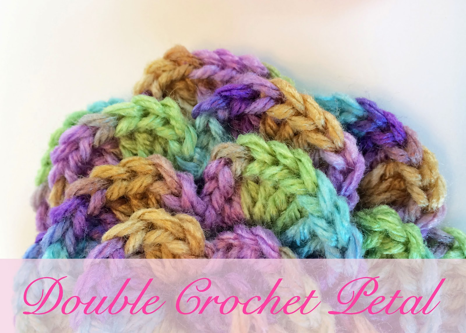 Free Crochet Double Flower Pattern : Crochet Rochelle: Double Crochet Flower