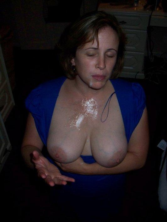 Beautiful cum covered tits