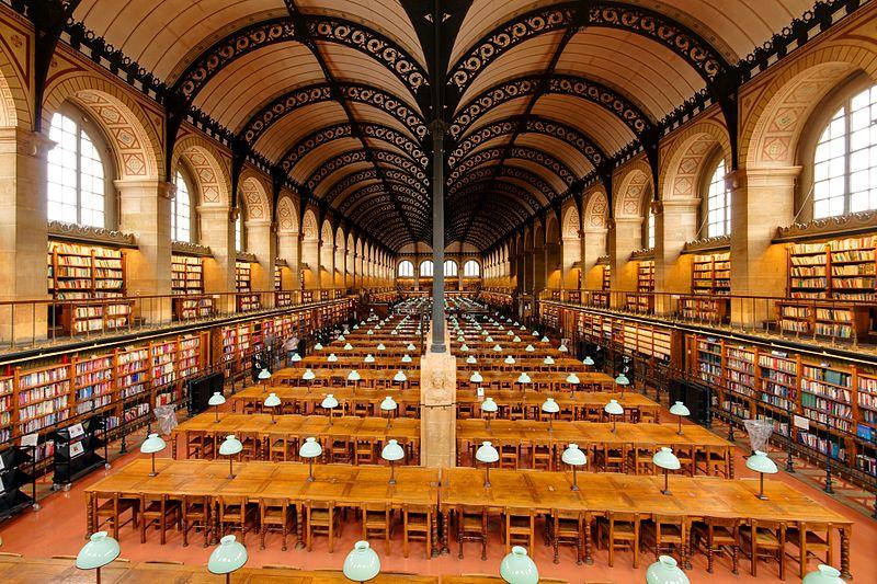 Petites informations à toutes les parisiennes et parisiens.  800px-Salle_de_lecture_Bibliotheque_Sainte-Genevieve_n02