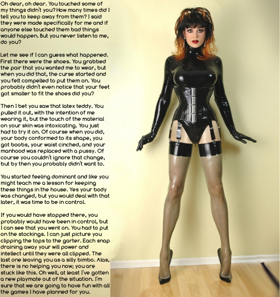 Valuable latex crossdressing captions possible tell