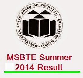MSBTE SUMMER 2014 RESULT