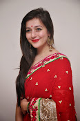Priyal Gor Dazzling in Red Saree-thumbnail-6