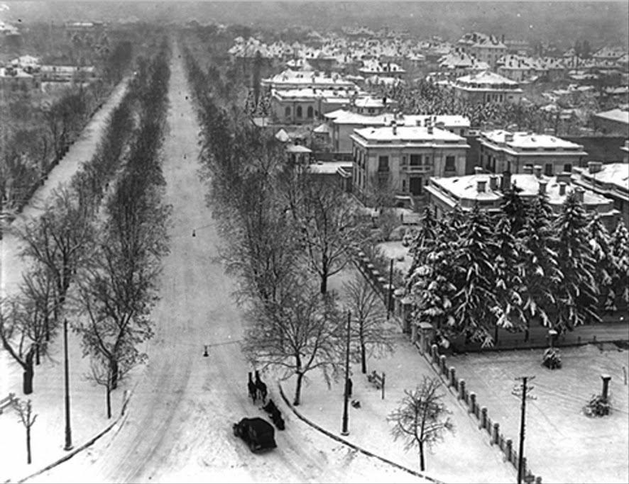 Panorama sos. Kiseleff iarna