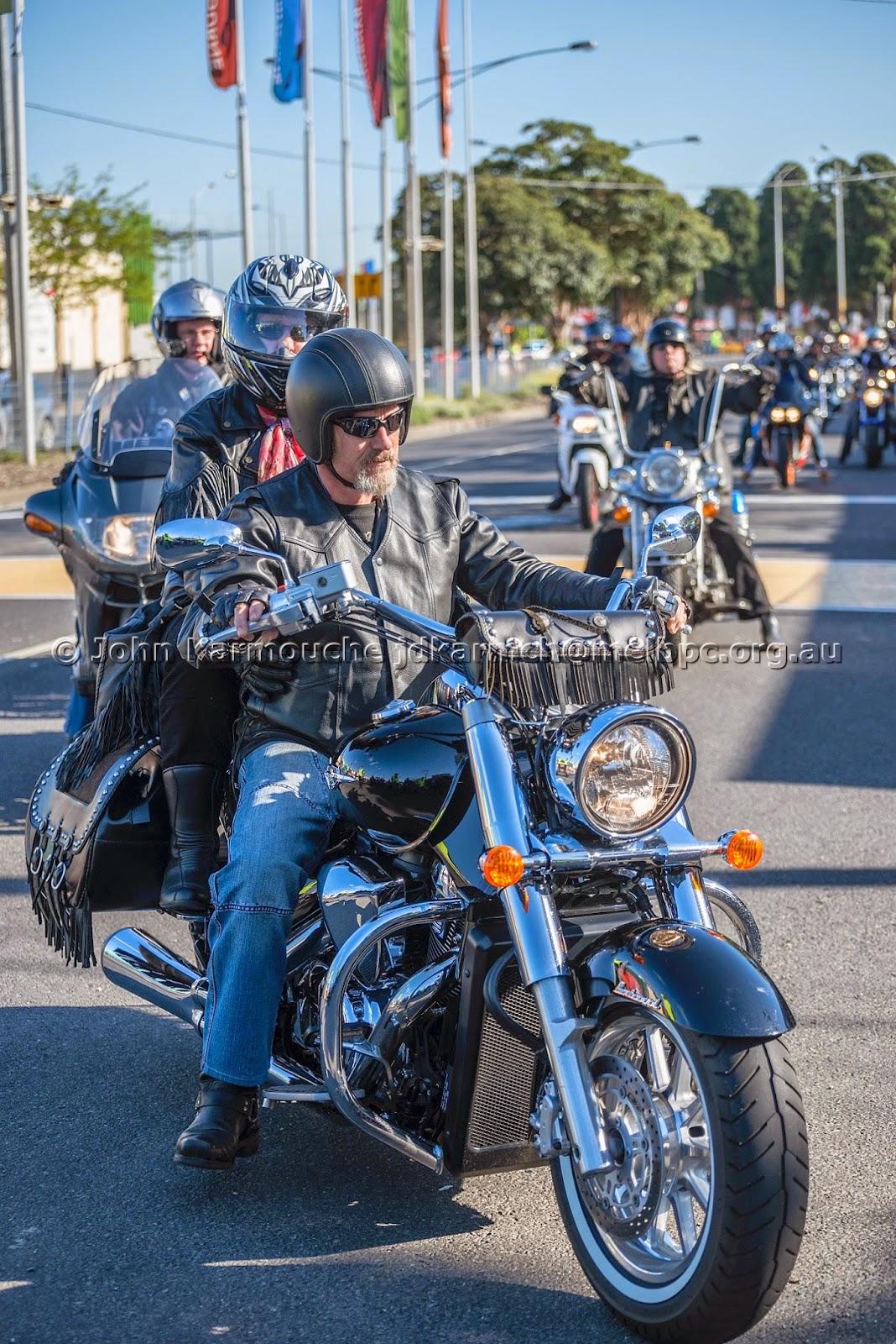 Harley Davidson Rider on Heritage Softail