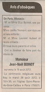 Décès Boinot