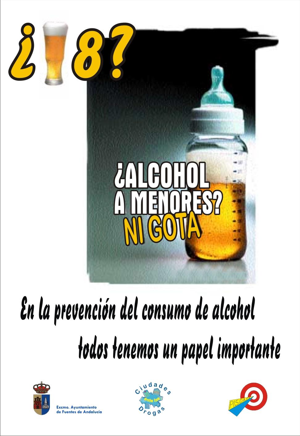 campaña prevención verano alcohol a menores ni gota