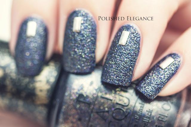 OPI - Alcatraz... Rocks swatch studs nail art studded manicure nail art nail polish