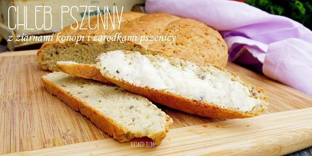 chleb na drozdzach, chleb pszenny,chleb z ziarnami, chleb, kuchnia ilony, pieczywo domowe, domowa piekarnia,