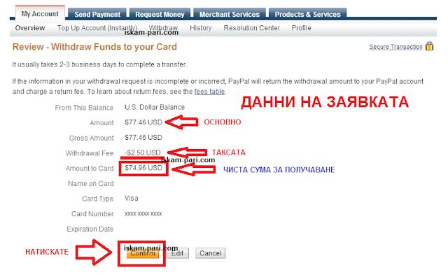 Teglene na pari ot PayPal 4