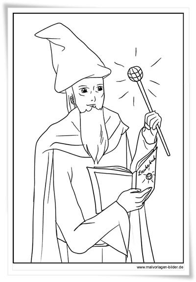 Zauberer von Oz gratis-Malvorlagen  - Zauberer Bilder Zum Ausmalen