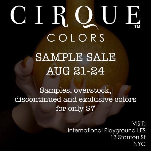 Cirque Colors sample sale