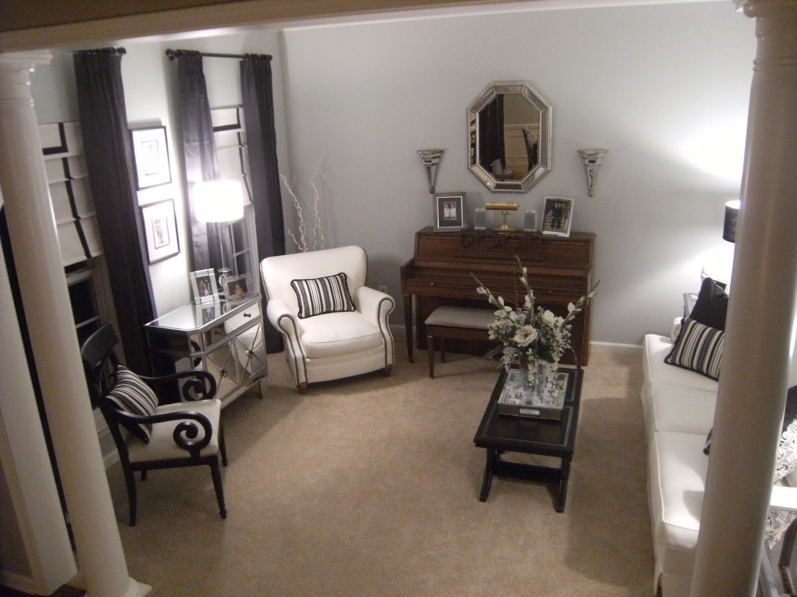 Southgate residential formal living room unveiled for How to place a piano in a room