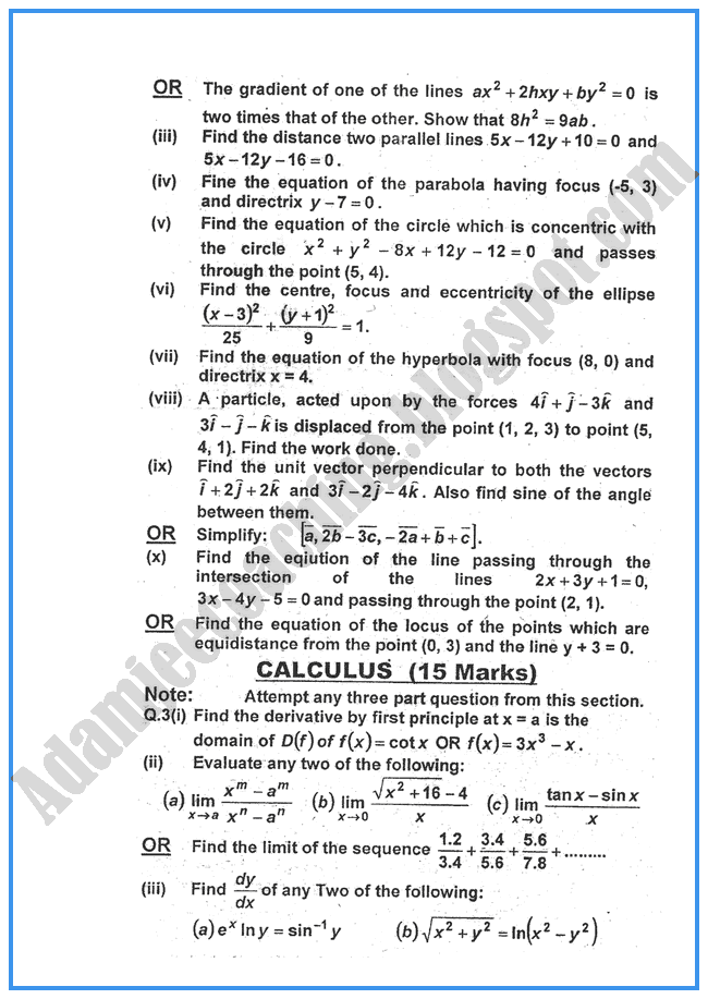 mathematics past papers 2014 Undergraduate mathematics past examination papers mathematical tripos part ia examination papers 2014.
