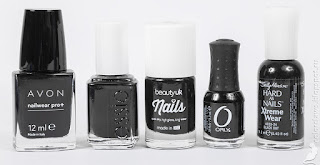 Avon Licorice Essie Licorice Beauty UK Black Out Orly Black Out Sally Hansen Black Out