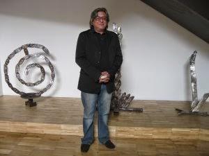 Esculturas en el Museo del Vino de Almendralejo