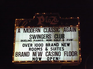 The Swingers Club miniature golf course in the Plaza Hotel and Casino in downtown Las Vegas