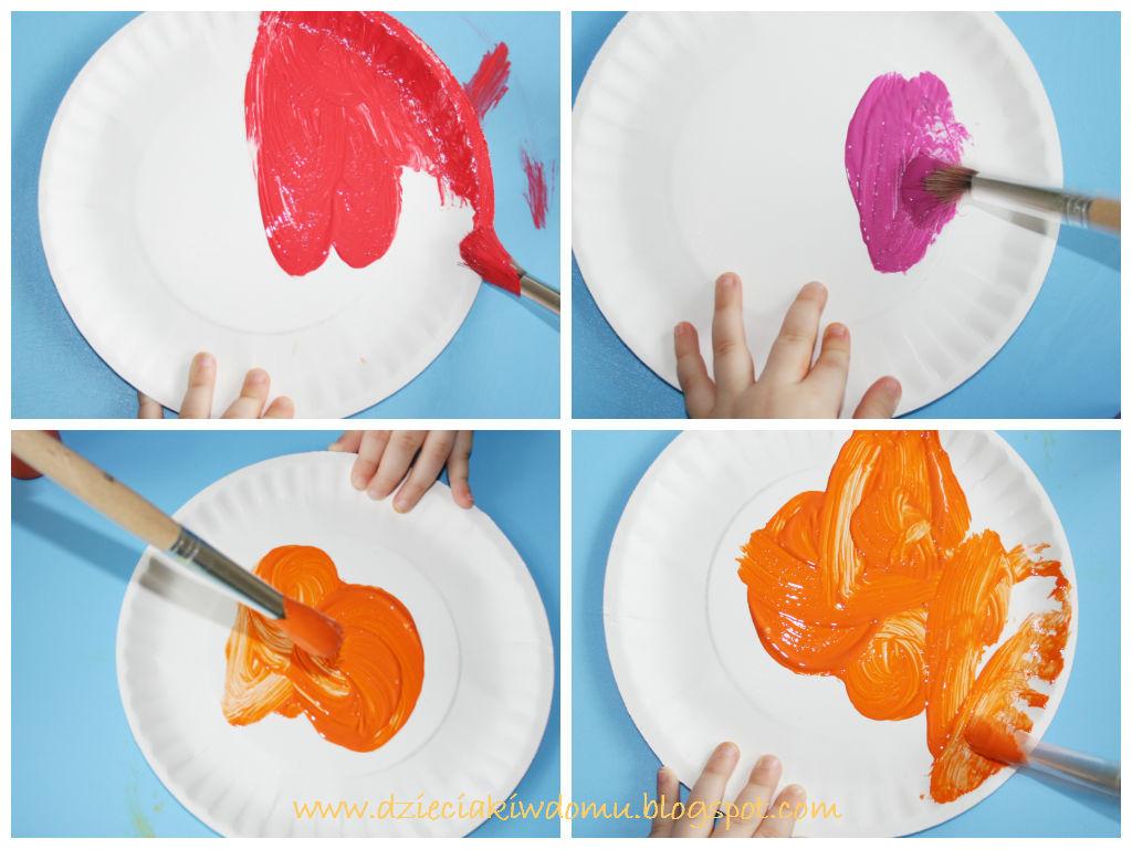 kreatywna gra zręcznościowa dla dzieci z papierowych talerzyków