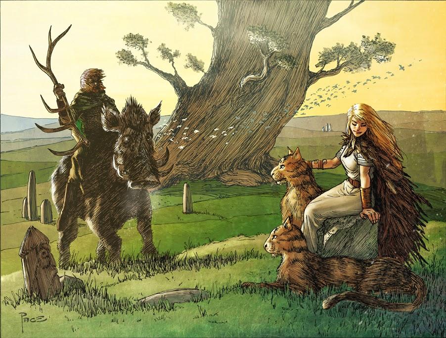Image of twin Vanir gods Freyr Norse God and Freya