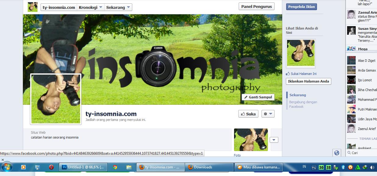 , yaitu membuat Foto Sampul Facebook Menyatu dengan Foto Profil