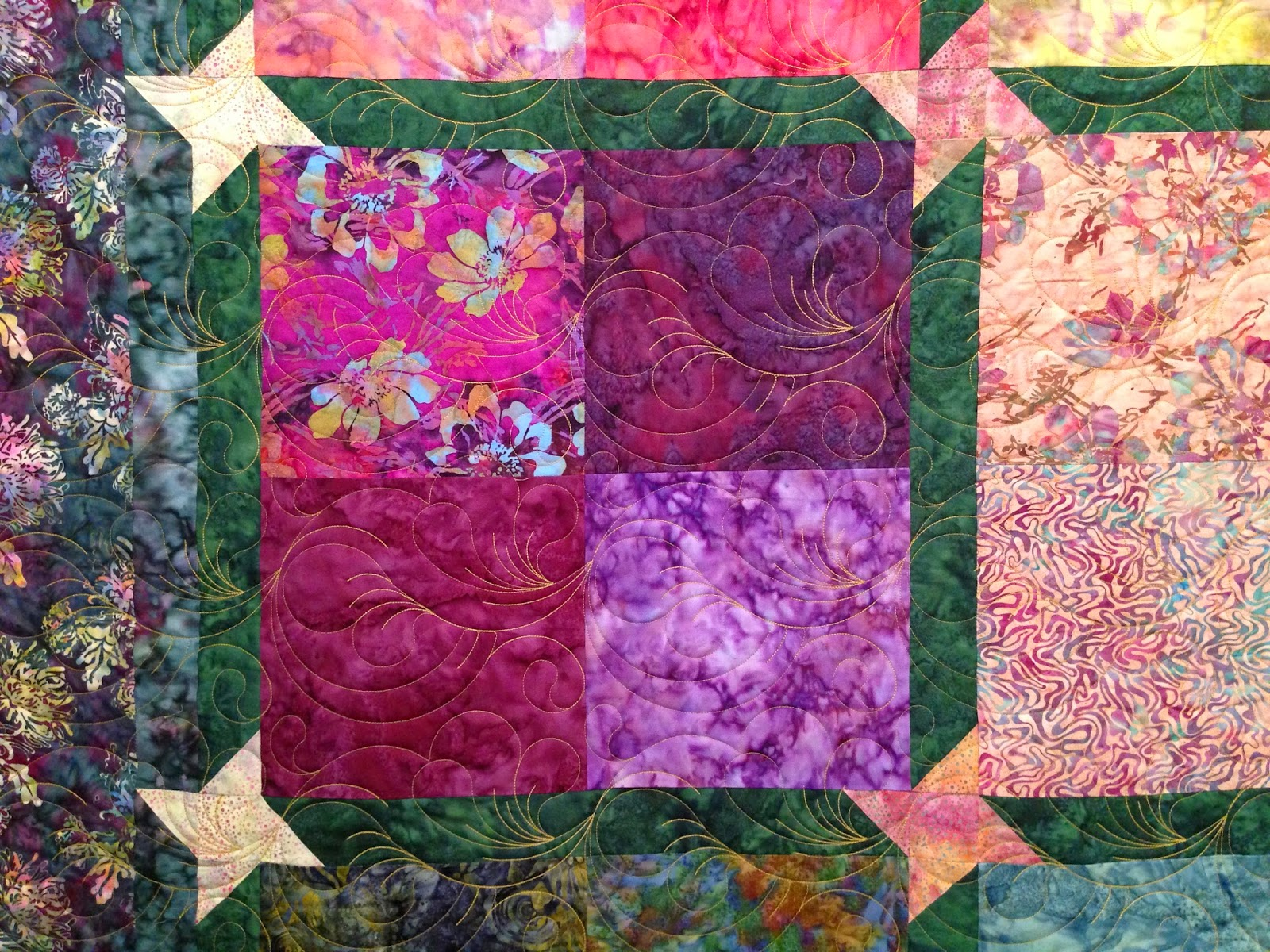 Sally Krebs Batik Squares Quilt