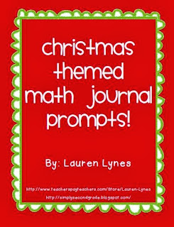 http://www.teacherspayteachers.com/Product/Christmas-Math-Journal-Prompts-K-2-411537