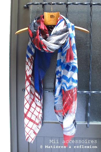 Foulard laine et soie Mii accessoires