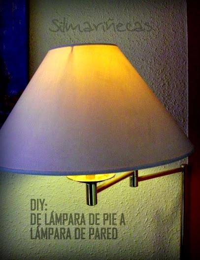 De lampara de pie a lampara de pared