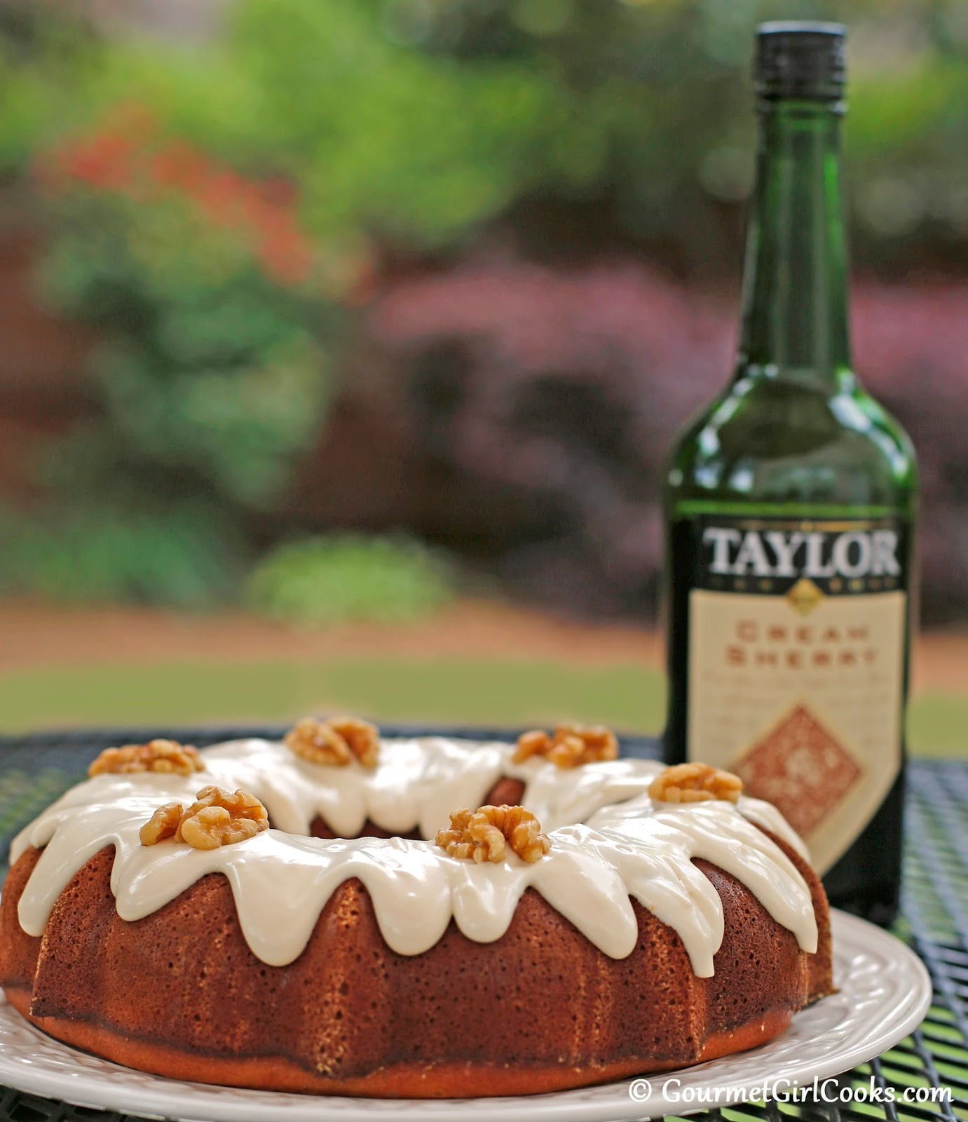 Gourmet Girl Cooks: Cream Sherry Bundt Cake - Low Carb ...