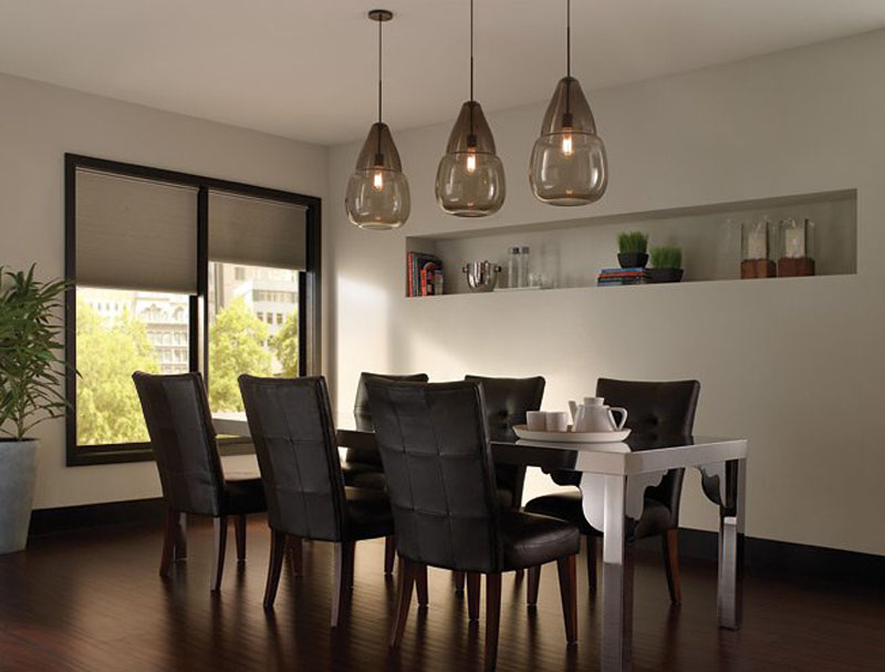 Charcoal decores hand blown pandent light for Dining room 3 pendant lights