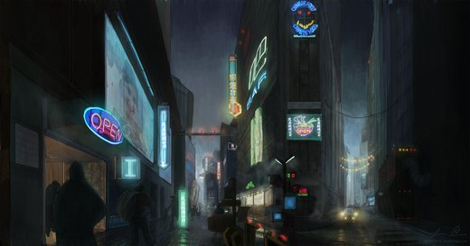 Blade Runner - Alley por Resusan