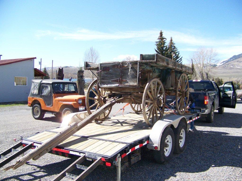 Securing The Sheep Wagon To The Trailer For The Trip To The Restoration  Site.
