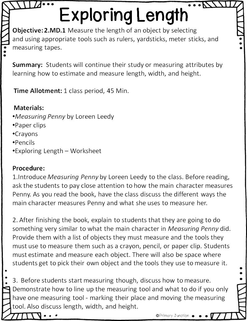 Primary Junction: Second Grade Common Core Measurement Unit