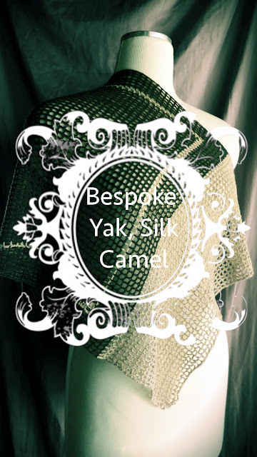 Buy luxury scarf, handmade in yak fiber, silk and camel fibers
