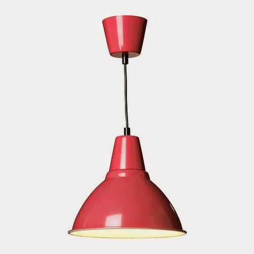 Ikea red lamp