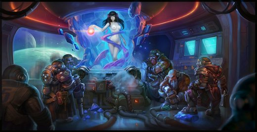 Snow White and the Seven Dwarfs space opera por Niconoff